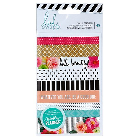 Heidi Swapp Stickers Washi Wrapper - 45 Count