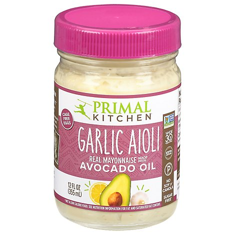 Primal Kitchen Mayonnaise Garlic Aioli Avocado Oil - 12 Oz