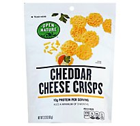 Open Nature Cheese Crisps Cheddar - 2.12 Oz