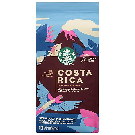 Starbucks Coffee Whole Bean Medium Roast Costa Rica Bag - 9 Oz
