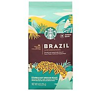 Starbucks Coffee Whole Bean Medium Roast Brazil Bag - 9 Oz