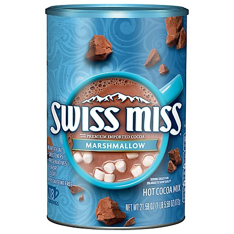 Swiss Miss Cocoa Milk Chocolate Marshmallow Canister - 21.59 Oz