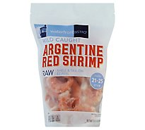waterfront BISTRO Shrimp Argentine Red Raw Shell & Tail On 21 To 25 Count - 32 Oz