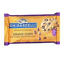 Ghirardelli Baking Chips Grand Chips Semi Sweet Chocolate - 11 Oz