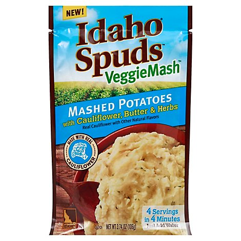 Idaho Spuds Veggiemash Cauliflower Butter And Herbs - 3.74 Oz
