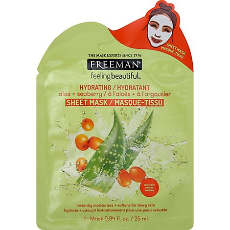 Feeling Beautiful Hydrating Aloe Seaberry Sheet Mask - .84 Fl. Oz.