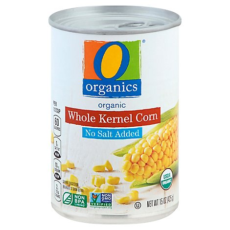 O Organics Corn Whole Kernel No Salt Added - 15.00 Oz