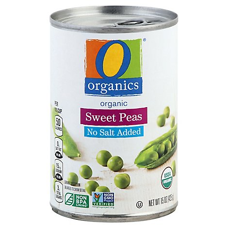O Organics Sweet Peas No Salt Added - 15 Oz