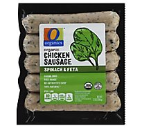 O Organics Organic Sausage Chicken Spinach & Feta Vacuum Packed - 12 Oz