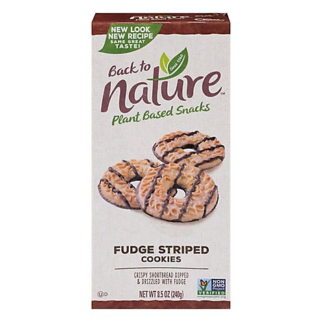 back to NATURE Cookies Fudge Striped Box - 8.5 Oz