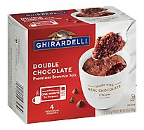 Ghirardelli Chocolate Brownie Mix Premium Double Chocolate Box - 9.2 Oz