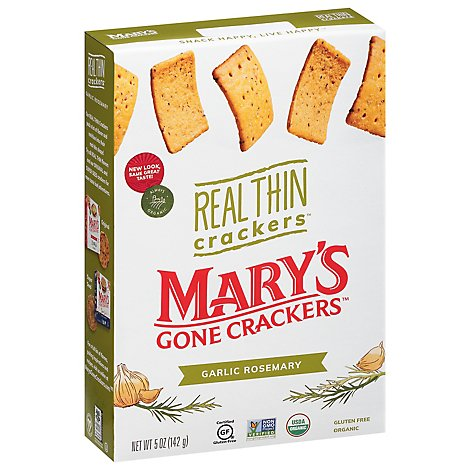 Marys Gone Crackers Cracker Th Grlc Rsemry Gf - 5 Oz