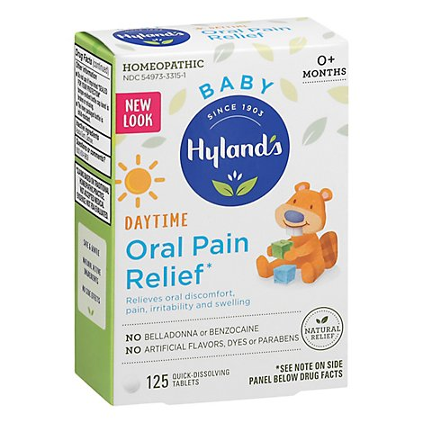 Hylands Bby Oral Pain Relief - 125 Count