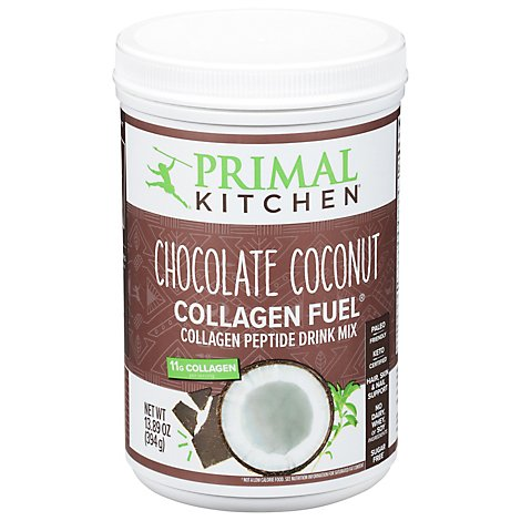 Primal Kitchen Chocolate Fuel Drink Mix Chocolate Coconut Can - 13.9 Oz