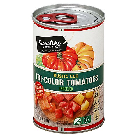 Signature SELECT Tomatoes Tri Color Rustic Cut Unpeeled Can - 10 Oz