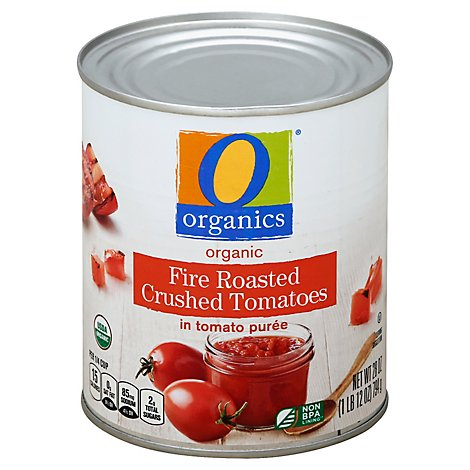 O Organics Organic Tomatoes Crushed Fire Roasted In Tomato Puree - 28 Oz