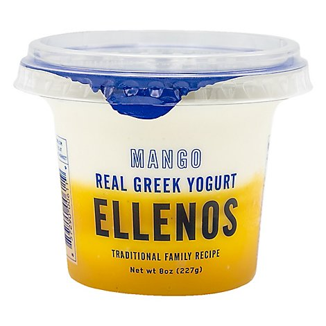 Ellenos Yogurt Greek Mango - 8 Oz