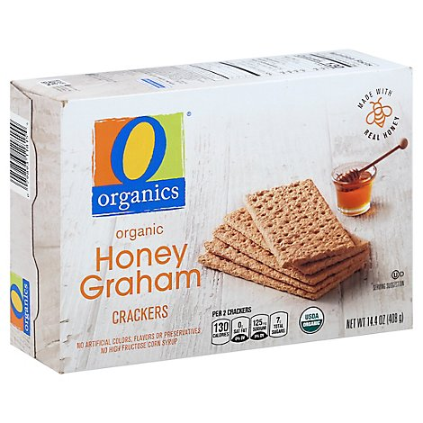 O Organics Organic Crackers Honey Graham Box - 14.4 Oz