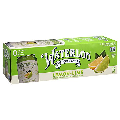 Waterloo Sparkling Water Lime Box - 12-12 Fl. Oz.
