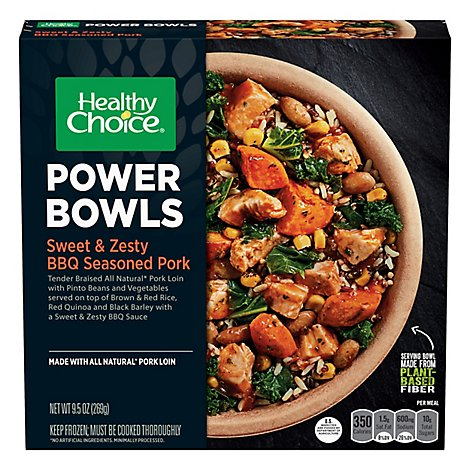 Healthy Choice Power Bowls Sweet & Zesty Bbq Seasoned Pork Sleeve - 9.5 Oz