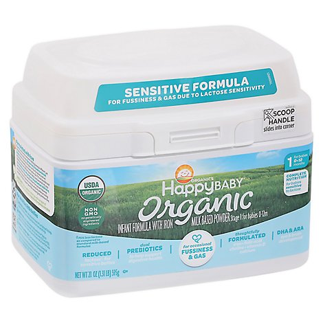 Happy Baby Organics Infant Sensitive Formula Powder - 21 Oz
