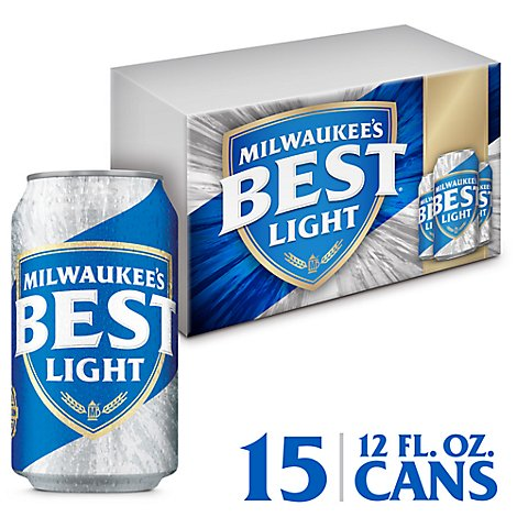 Milwaukees Best Beer Lager Light 4.1% ABV Cans - 15-12 Fl. Oz.