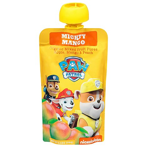 Paw Patrol Mixed Fruit Puree Organic Mighty Mango Pouch - 3.5 Oz