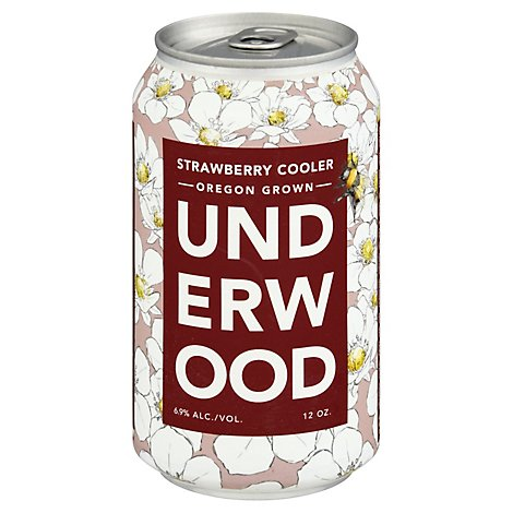 Underwood Strawberry Cooler Cans Wine - 375 Ml