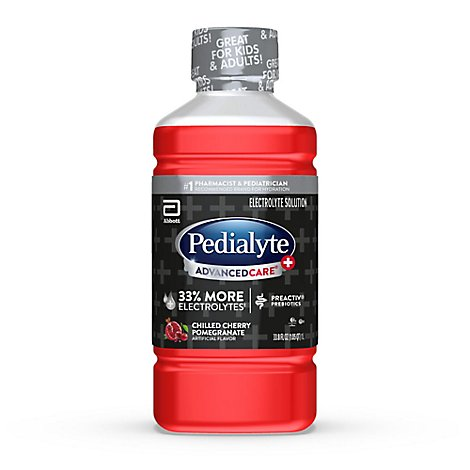 Pedialyte AdvancedCare Plus Electrolyte Solution Chilled Cherry Pomegranate - 35 fl oz