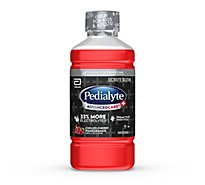 Pedialyte AdvancedCare Plus Electrolyte Solution Ready To Drink Cherry Pomegranate - 33.8 Fl. Oz.