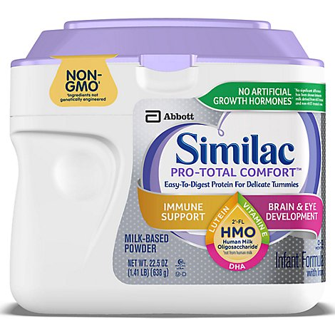 Similac Pro-Total Comfort Infant Formula Non GMO with 2 FL HMO With Iron Powder - 22.5 Oz