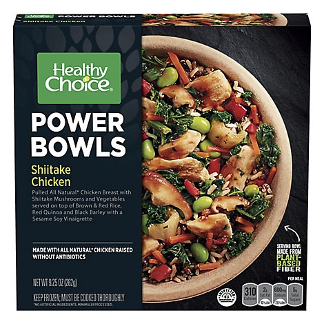 Healthy Choice Power Bowls Shiitake Chicken Sleeve - 9.25 Oz