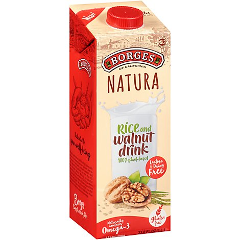 Borges Of California Rice-Walnut Drink - 33.8 Fl. Oz.