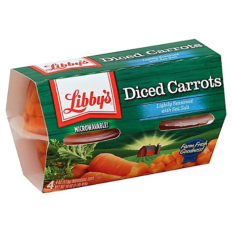 Libbys Carrots Diced Cup - 16 Oz