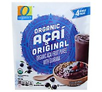 O Organics Organic Fruit Puree Acai Original - 4-3.5 Fl. Oz.
