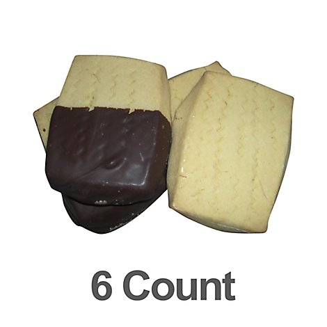 Bakery Cookies Shortbread Dark Chocolate 6 Count