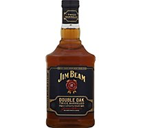 Jim Beam Whiskey Bourbon Kentucky Straight Double Oak Twice Barreled Bottle 86 Proof - 750 Ml