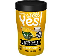 Campbells Well Yes! Soup Sipping Sweet Corn & Roasted Poblano Jar - 11.1 Oz