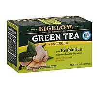 Bigelow Tea Bags Green With Ginger Plus Probiotics 18 Count - 0.90 Oz