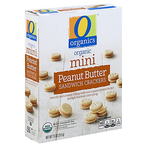 O Organics Organic Sandwich Crackers Mini Peanut Butter Box - 7.5 Oz
