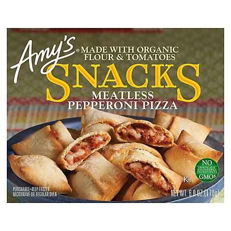 Amys Snacks Meatless Pepperoni Pizza - 6 Oz
