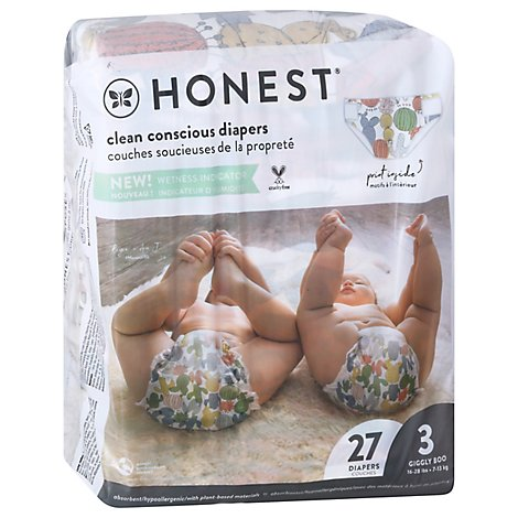Honest Diaper Sz3 Panda - 27 Count
