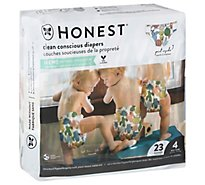 Honest Diaper Sz4 Panda - 23 Count