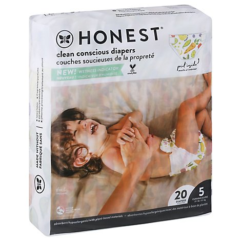 Honest Diapers Sz5 Panda - 20 Count