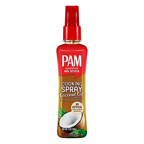 PAM Cooking Spray Coconut Oil Superior No Stick Bottle - 7 Oz