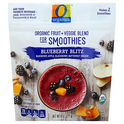 O Organics Organic Fruit + Veggie Blend Blueberry Blitz - 8 Oz