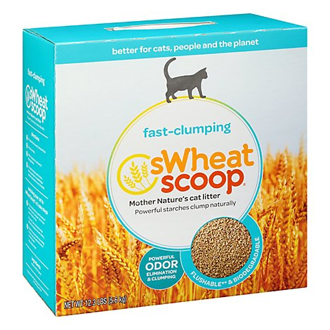 sWheat Scoop Cat Litter Natural Fast Clumping Original Box - 12.3 Lb