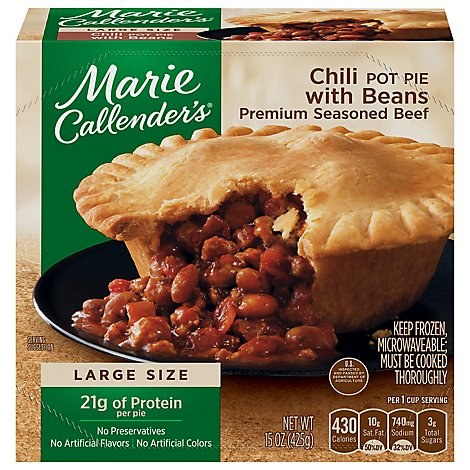 Marie Callenders Chili With Beans Pot Pie - 15 Oz