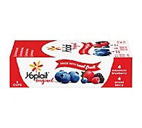 Yoplait Blueberry Mixed Berry Lf Yogurt Fridge Pack - 8-6 Oz