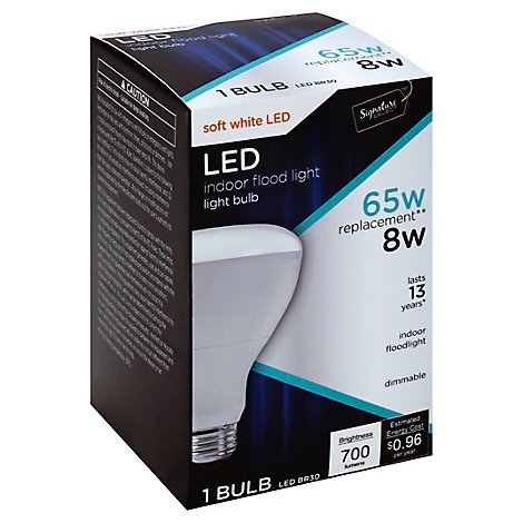 Signature SELECT Light Bulb LED Soft White 8W BR30 - Each